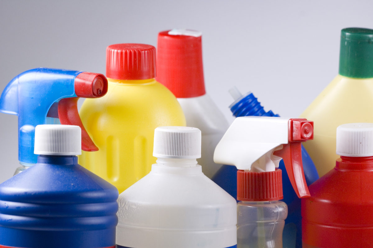 cleaning products should not be stored in storage units