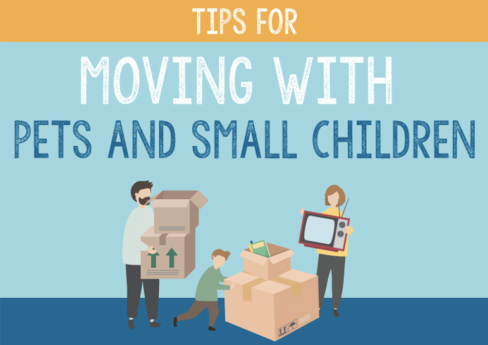 Tips for Moving With Pets and Small Children [Infographic]